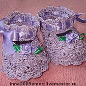 Работы для детей, ручной работы. Ярмарка Мастеров - ручная работа Пинетки -туфельки. Handmade.