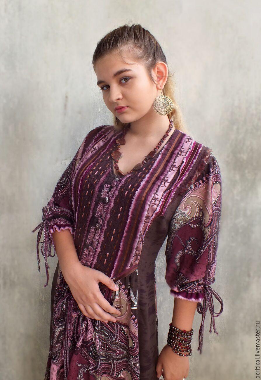ec675b8af56 Dresses handmade. Livemaster - handmade. Buy Boho-dress  Pomegranate and  chocolate  ...