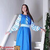 """Одежда ручной работы. Ярмарка Мастеров - ручная работа Платье традиционное """"Голубой ручей"""". Handmade."""