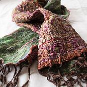 Аксессуары ручной работы. Ярмарка Мастеров - ручная работа Нуновойлочный шарф Теплая осень. Handmade.