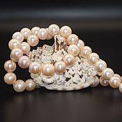 Материалы для творчества handmade. Livemaster - original item Pearls of natural white pink beads 11-12 mm grade AAA. Handmade.