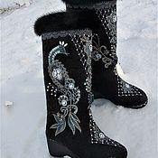 Обувь ручной работы handmade. Livemaster - original item Boots valenki black Firebird. Handmade.