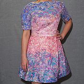 Одежда ручной работы. Ярмарка Мастеров - ручная работа Платье из дизайнерской ткани. Handmade.