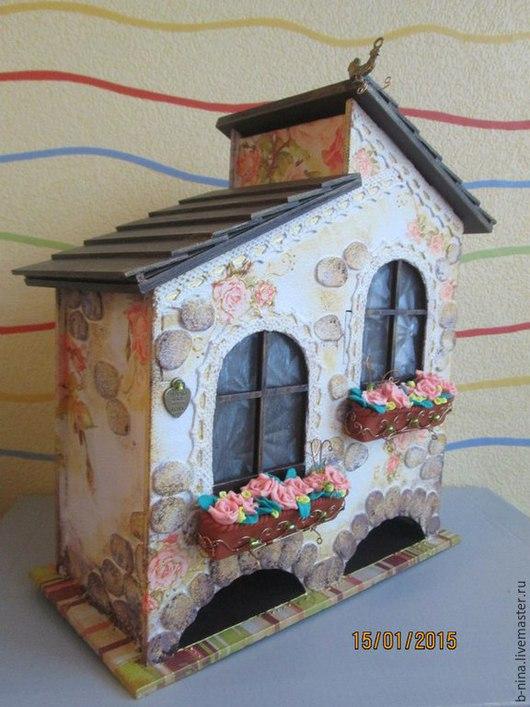 Кухня ручной работы. Ярмарка Мастеров - ручная работа. Купить Чайный домик с розами. Handmade. Розовый, ручная работа, проволока