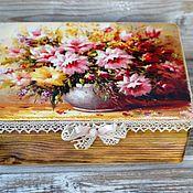 Для дома и интерьера handmade. Livemaster - original item Box Favorite bouquet of flowers array of coniferous species. Handmade.