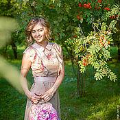 """Одежда handmade. Livemaster - original item """"Майская Роза"""", платье из натурального шелка. Handmade."""