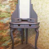Столы ручной работы. Ярмарка Мастеров - ручная работа Угловой туалетный столик для макияжа. Handmade.