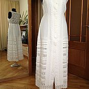 Одежда handmade. Livemaster - original item Linen embroidered sundress