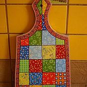 """Для дома и интерьера ручной работы. Ярмарка Мастеров - ручная работа Доска разделочная """" Пэчворк"""". Handmade."""