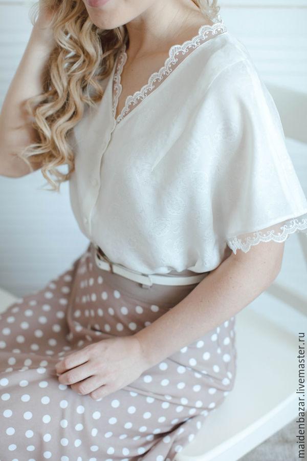 Купить белую блузку с б
