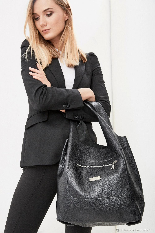 Bag Pack black leather Pouch Bag medium shopper t-shirt Bags, Sacks, Moscow,  Фото №1