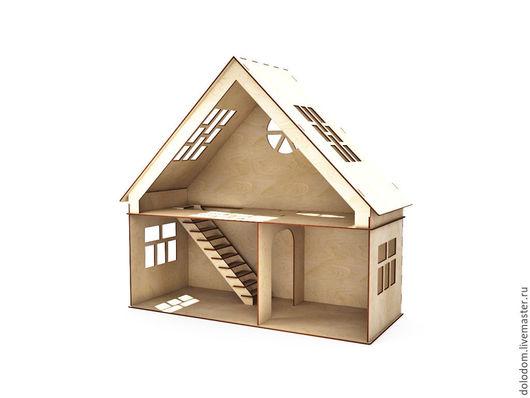 Куклы и игрушки ручной работы. Ярмарка Мастеров - ручная работа. Купить КД-0000019 Кукольный домик 1 этаж и мансарда. Handmade.