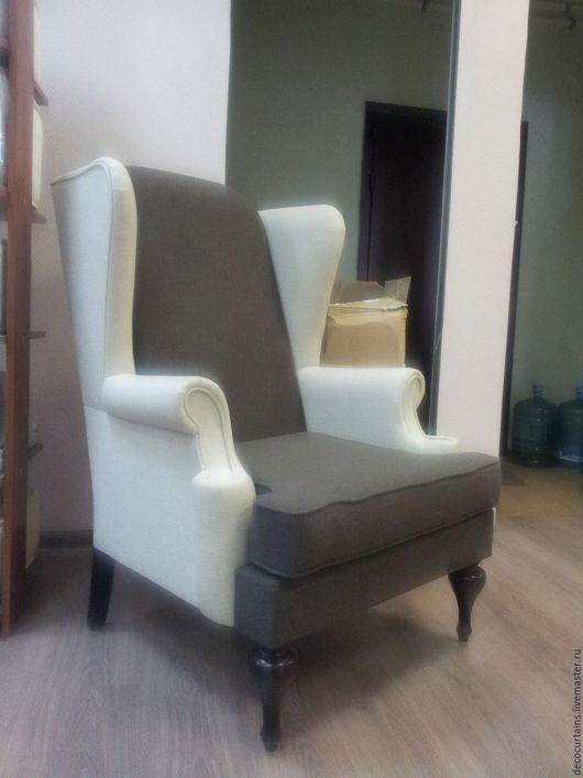 Мебель ручной работы. Ярмарка Мастеров - ручная работа. Купить Огромное Английское кресло 2. Handmade. Белый