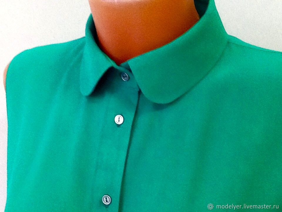 Shirt / green, Blouses, Moscow,  Фото №1
