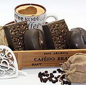 Косметика ручной работы handmade. Livemaster - original item Coffee soap set. Handmade.