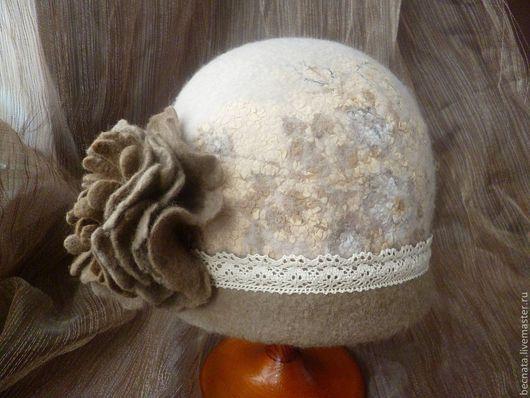 """Шляпы ручной работы. Ярмарка Мастеров - ручная работа. Купить Шляпка""""Гляссе..."""". Handmade. Бежевый, головные уборы, шапка"""