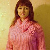 """Одежда ручной работы. Ярмарка Мастеров - ручная работа свитер """"Розвый пион"""". Handmade."""