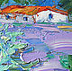 Painting Provence 'Landscape with Lavender and Olive' oil impressionism. Pictures. Multicolor Gallery. My Livemaster. Фото №5