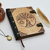 Канцелярские товары handmade. Livemaster - original item Notebook made of wood and leather
