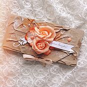 Открытки handmade. Livemaster - original item Envelope for monetary gift. Handmade.