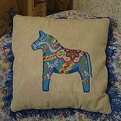 Для дома и интерьера ручной работы. Ярмарка Мастеров - ручная работа подушка декоративная вышивка. Handmade.
