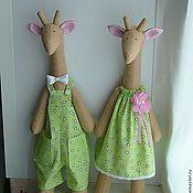 """Куклы и игрушки ручной работы. Ярмарка Мастеров - ручная работа Тильда - жирафы """"Весенние малыши"""". Handmade."""
