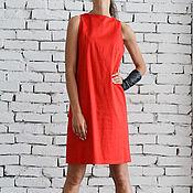 Dresses handmade. Livemaster - original item Red Short Summer Dress. Handmade.