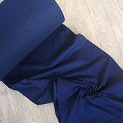 handmade. Livemaster - original item Flannel made from organic American cotton. dark blue. Handmade.
