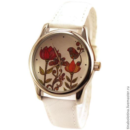 Часы ручной работы. Ярмарка Мастеров - ручная работа. Купить Дизайнерские наручные часы Сказочный Узор. Handmade. Красивые цветы