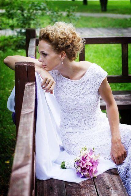 Одежда и аксессуары ручной работы. Ярмарка Мастеров - ручная работа. Купить Свадебное платье. Handmade. Свадьба, женское вязаное платье