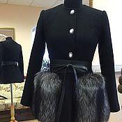 Одежда ручной работы. Ярмарка Мастеров - ручная работа Пальто с меховыми карманами. Handmade.