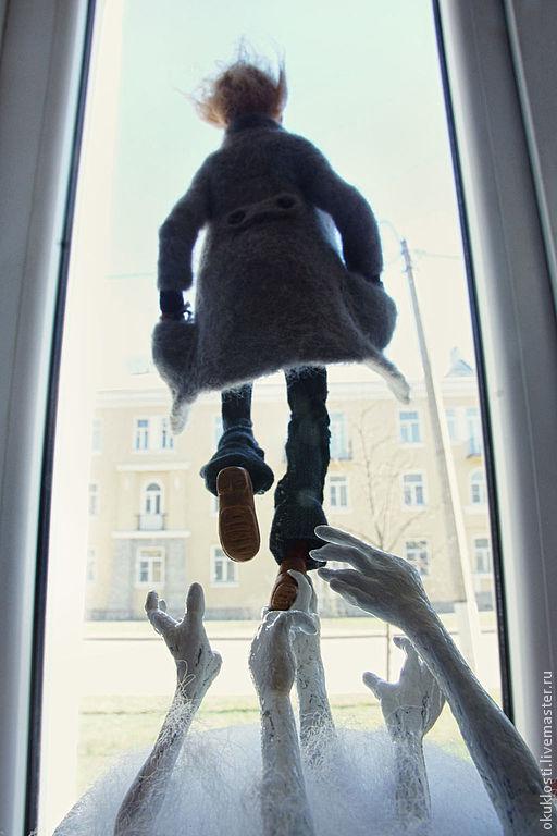 Коллекционные куклы ручной работы. Ярмарка Мастеров - ручная работа. Купить Выше ноги от земли. Handmade. Чудак, полет, композиция