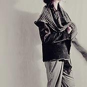 Одежда handmade. Livemaster - original item Tweed trousers with high waist and pintucks. Handmade.