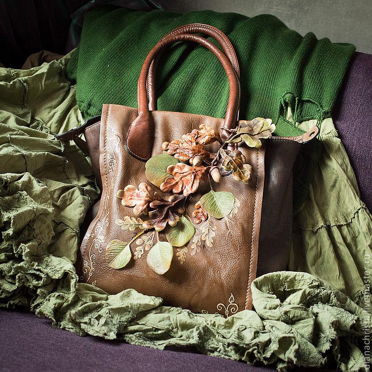 Украшение на сумку из кожи 119