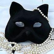 """Одежда ручной работы. Ярмарка Мастеров - ручная работа Маска карнавальная """"Чёрный кот"""". Аренда, заказ.. Handmade."""