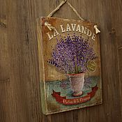 """Картины и панно ручной работы. Ярмарка Мастеров - ручная работа Панно """"Лаванда"""". Handmade."""
