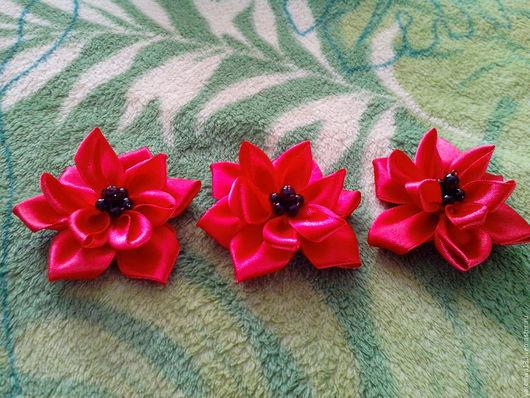 цветочки из лент