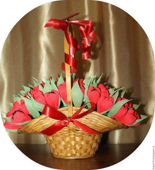 Букеты ручной работы. Ярмарка Мастеров - ручная работа. Купить Букет из конфет. Handmade. Комбинированный, цветы ручной работы, бумага