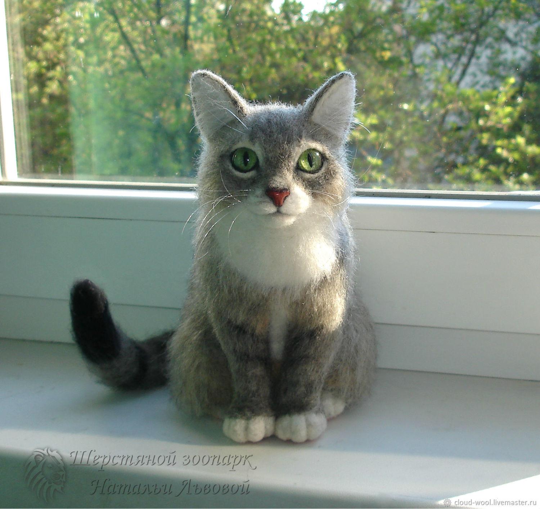 Кошечка Боня по фотографии, валяная кошка с портретным сходством, Войлочная игрушка, Сочи,  Фото №1