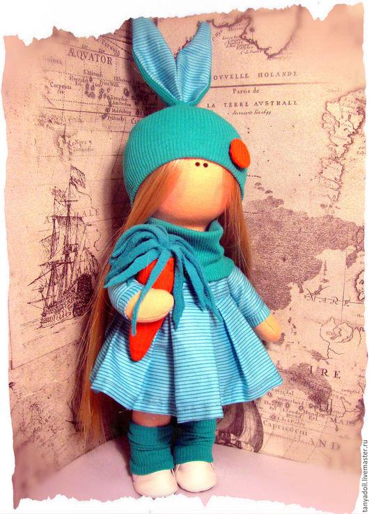 Куклы тыквоголовки ручной работы. Ярмарка Мастеров - ручная работа. Купить интерьерная кукла. Handmade. Бирюзовый, текстильная игрушка