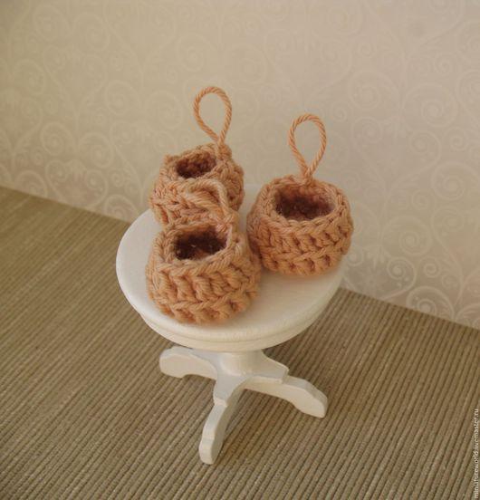 Кукольный дом ручной работы. Ярмарка Мастеров - ручная работа. Купить Комплект круглых корзиночек (3 шт.) 1:12. Handmade.