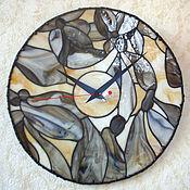 Для дома и интерьера ручной работы. Ярмарка Мастеров - ручная работа часы ЦВЕТЫ. Handmade.