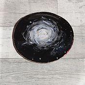Посуда ручной работы. Ярмарка Мастеров - ручная работа Тарелка керамическая Космос ручной работы. Handmade.