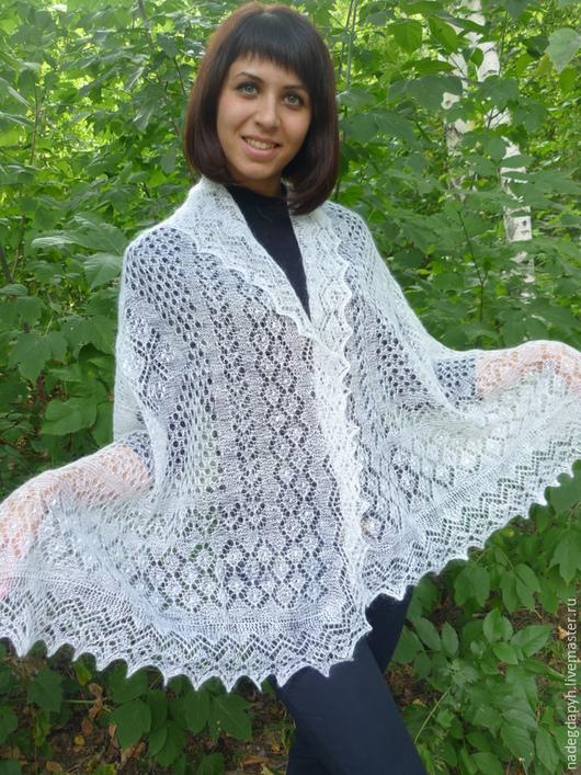 Shawls & Stoles handmade. Livemaster - handmade. Buy 18-stole downy Winter patterns,accessories, shawls,stoles.White