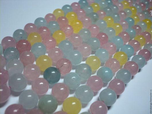 Для украшений ручной работы. Ярмарка Мастеров - ручная работа. Купить Аква-кварц 8 мм нить бусин камни для украшений.. Handmade.