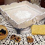 Для дома и интерьера ручной работы. Ярмарка Мастеров - ручная работа Конфетница,сухарница,поднос,шкатулка Нежность. Handmade.