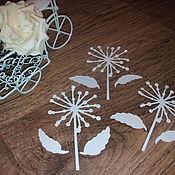 Материалы для творчества handmade. Livemaster - original item Cutting scrapbooking Dandelion, cardboard design. Handmade.