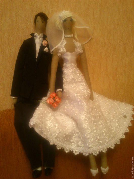 Куклы Тильды ручной работы. Ярмарка Мастеров - ручная работа. Купить Жених и невеста. Handmade. Белый, холофайбер