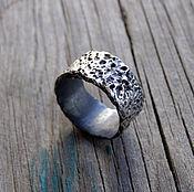 """Украшения ручной работы. Ярмарка Мастеров - ручная работа Серебряное кольцо """"Лава"""", кольцо унисекс,кольцо серебро мужское. Handmade."""
