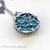 Украшения handmade. Livemaster - original item Silver pendant with amazonite. Handmade.